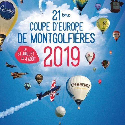 Meeting Aerien 21e Coupe d'Europe de Montgolfières - Ladies World Cup du 31 juillet au 4 Août 2019 à Mainfonds - Aubeville en Charente 2019