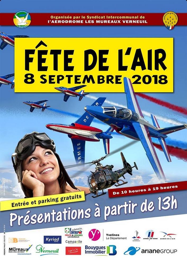 Fête de l'Air des Mureaux 2018, Aérodrome des Mureaux-Verneuil Sur Seine , meeting aerien 2018