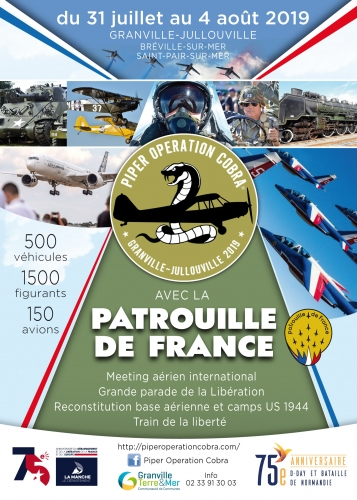 Meeting Aerien 75e D-Day bataille de Normandie Jullouville Manche 75e anniversaire du D-Day Piper opération Cobra 2019