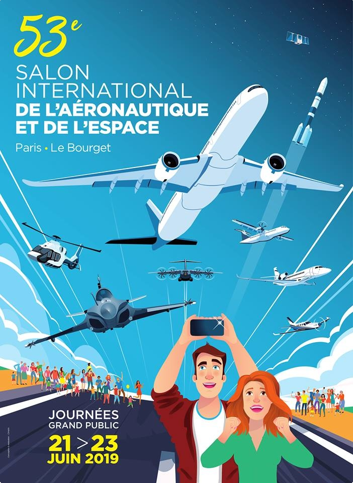 Salon du Bourget Paris airshow Salon International de l'Aéronautique et de l'Espace SIAE de Paris-Le Bourget 2019
