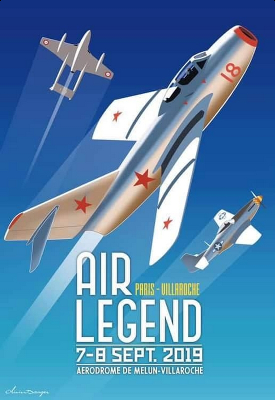 Paris Air Legend Aérodrome de Melun Villaroche Meeting Aerien 2019