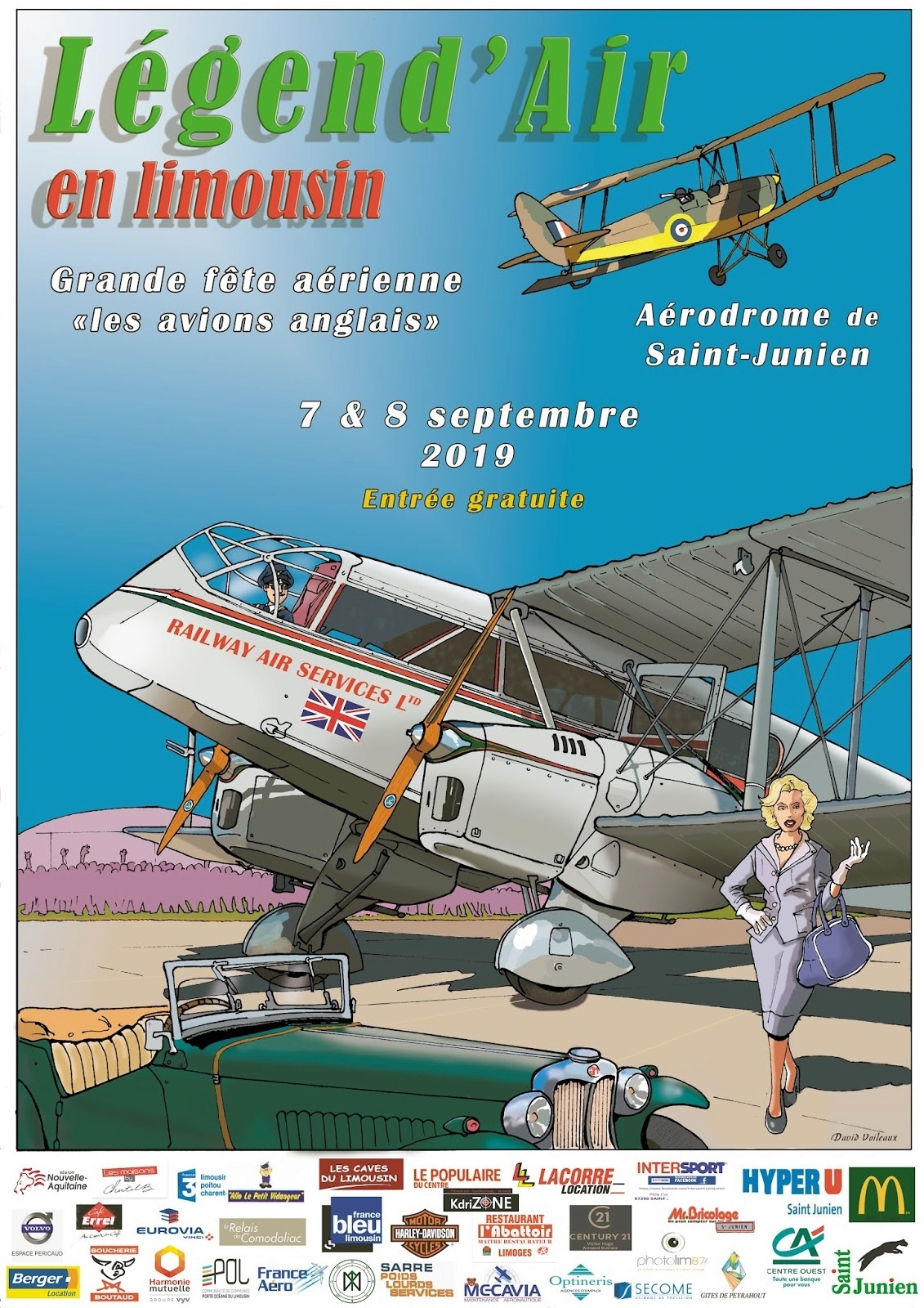 Aerodrome de Saint Junien Limousin Legend'Air en limousin Meeting Aerien 2019