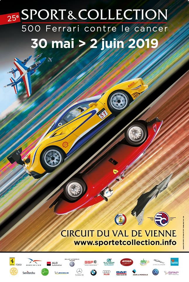 Sport & Collection - 500 Ferrari contre le cancer Rafale solo Display 2019 Patrouille de France 2019