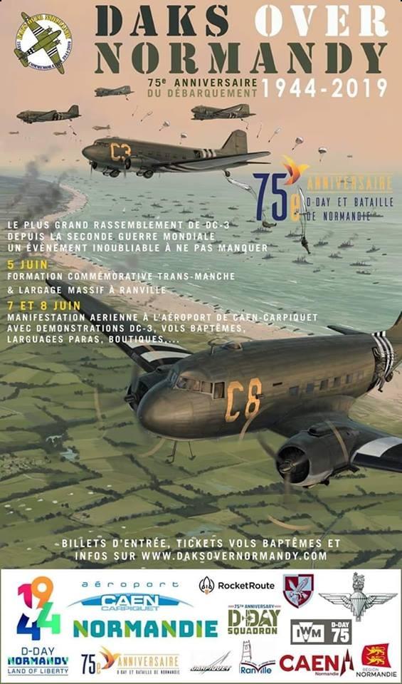 Daks Over Normandy D-Days Normandy 2019 Opération 75ème anniversaire du Débarquement