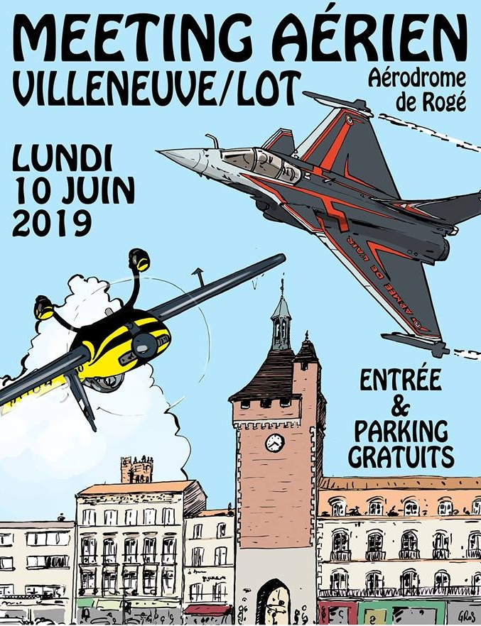 Meeting Aerien voltige Villeneuv'Air Show 2019
