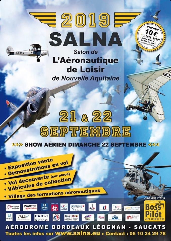 Salon de l'Aeronautique de Loisir de Nouvelle Aquitaine 2019 Aérodrome Bordeaux Léognan Saucats Meeting Aerien 2019