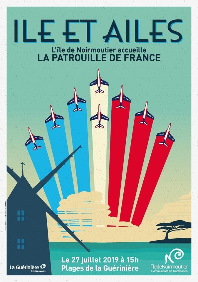 Île et ailes Plage de la Cantine Ile de Noirmoutier La Guérinière meeting aérien - Patrouille de France 2019