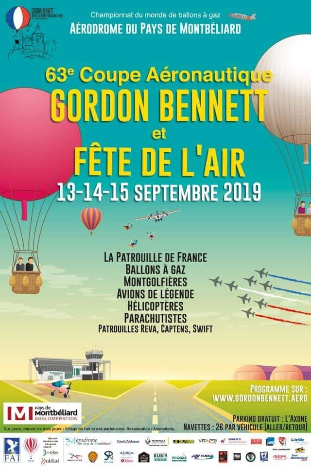 Coupe Aéronautique Gordon Bennett Patrouille de France Captens 2019