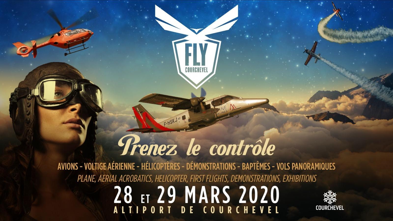 Fly Courchevel 2020 Equipe de voltige de l armee de l'air Altiport de Courchevel Auvergne-Rhone-Alpes