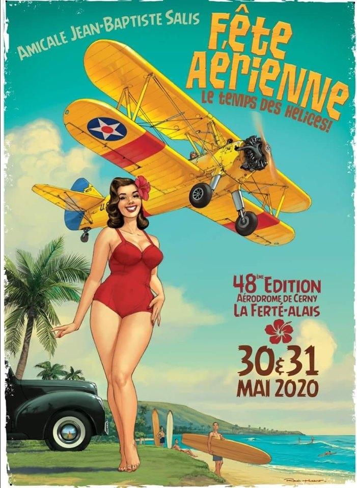 Meeting Aerien de La Ferté-Alais 2020 Aérodrome Plateau Ardenay Cerny Airshow manifestation Aerienne