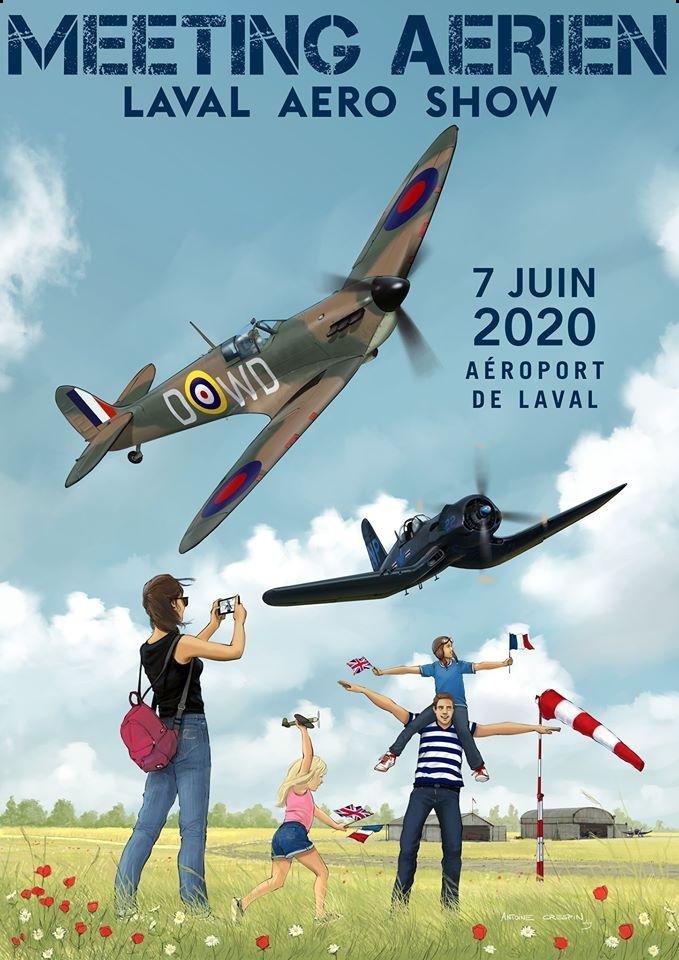 Laval Aéro Show 2020 mayenne Laval-Entrammes Pays de la Loire