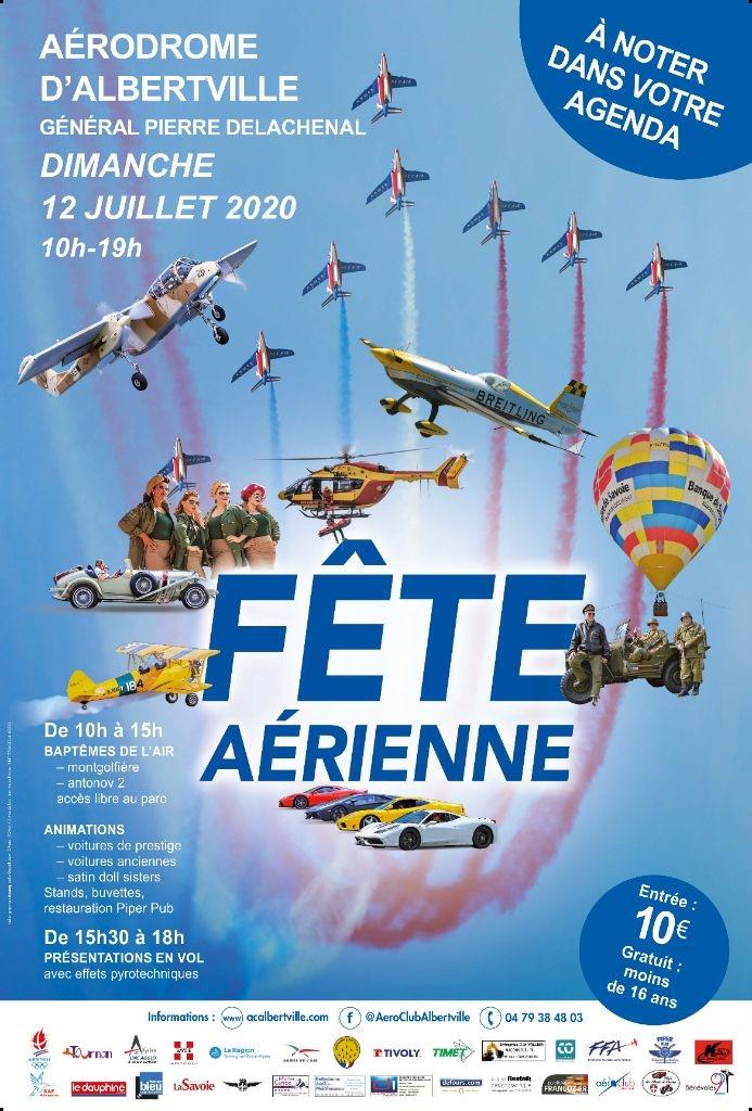 Fête de l'Air Albertville 2020 Aéro-Club d'Albertville 2020 Aérodrome d'Albertville Auvergne-Rhône-Alpes