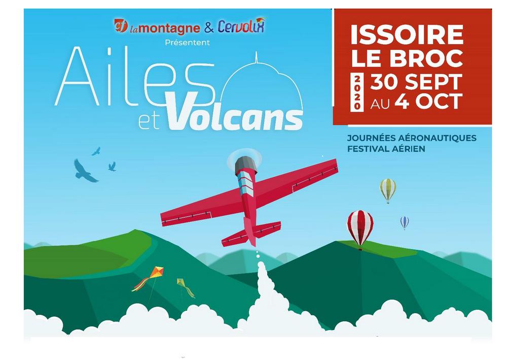 Ailes et Volcans Cervolix 2020 AACT Cervolix groupe Centre France Vautour Bravo rafale La Montagne aerodrome Issoire Le Broc Armées de l'Air evenement Auvergne meeting aerien festival