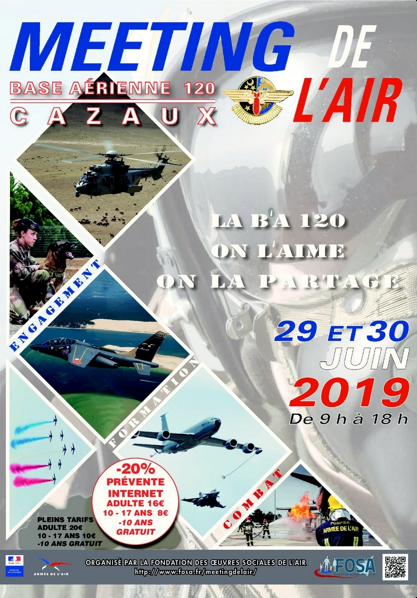 Meeting de l'Air BA-120 Cazaux de la FOSA Alphajet airshow Meeting Aerien 2019