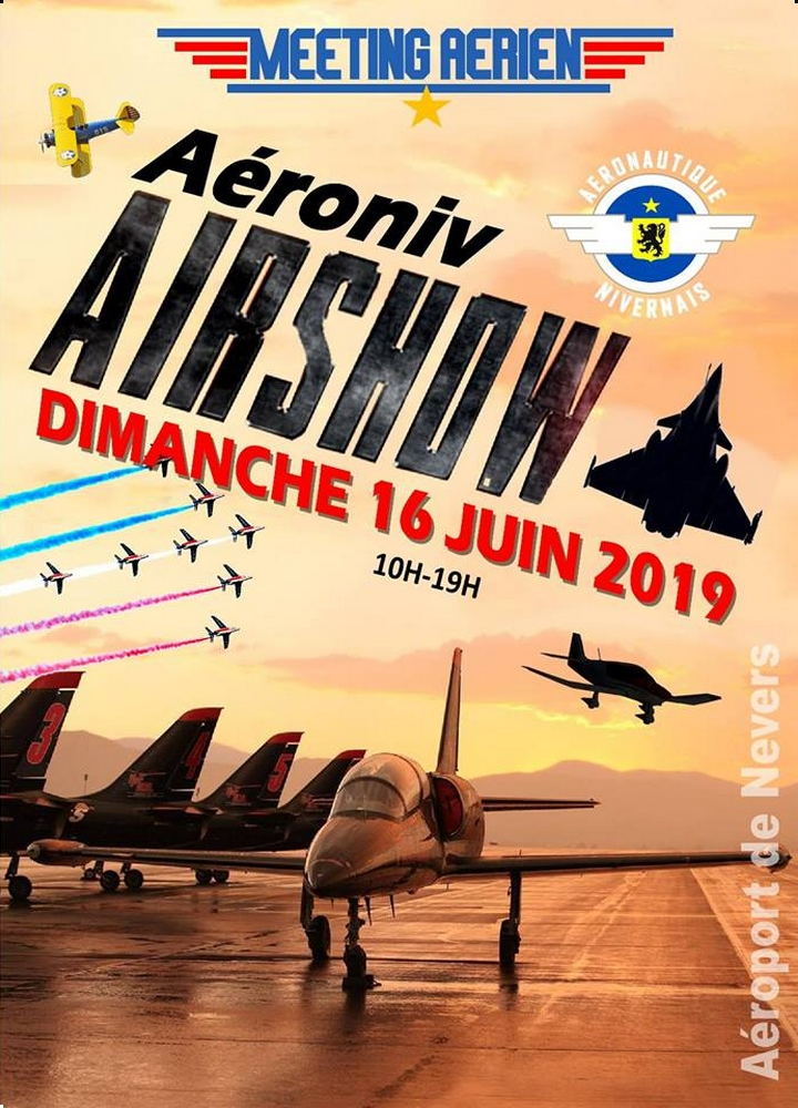 Aéroniv Airshow Nevers Aéronautique du Nivernais Meeting Aerien 2019