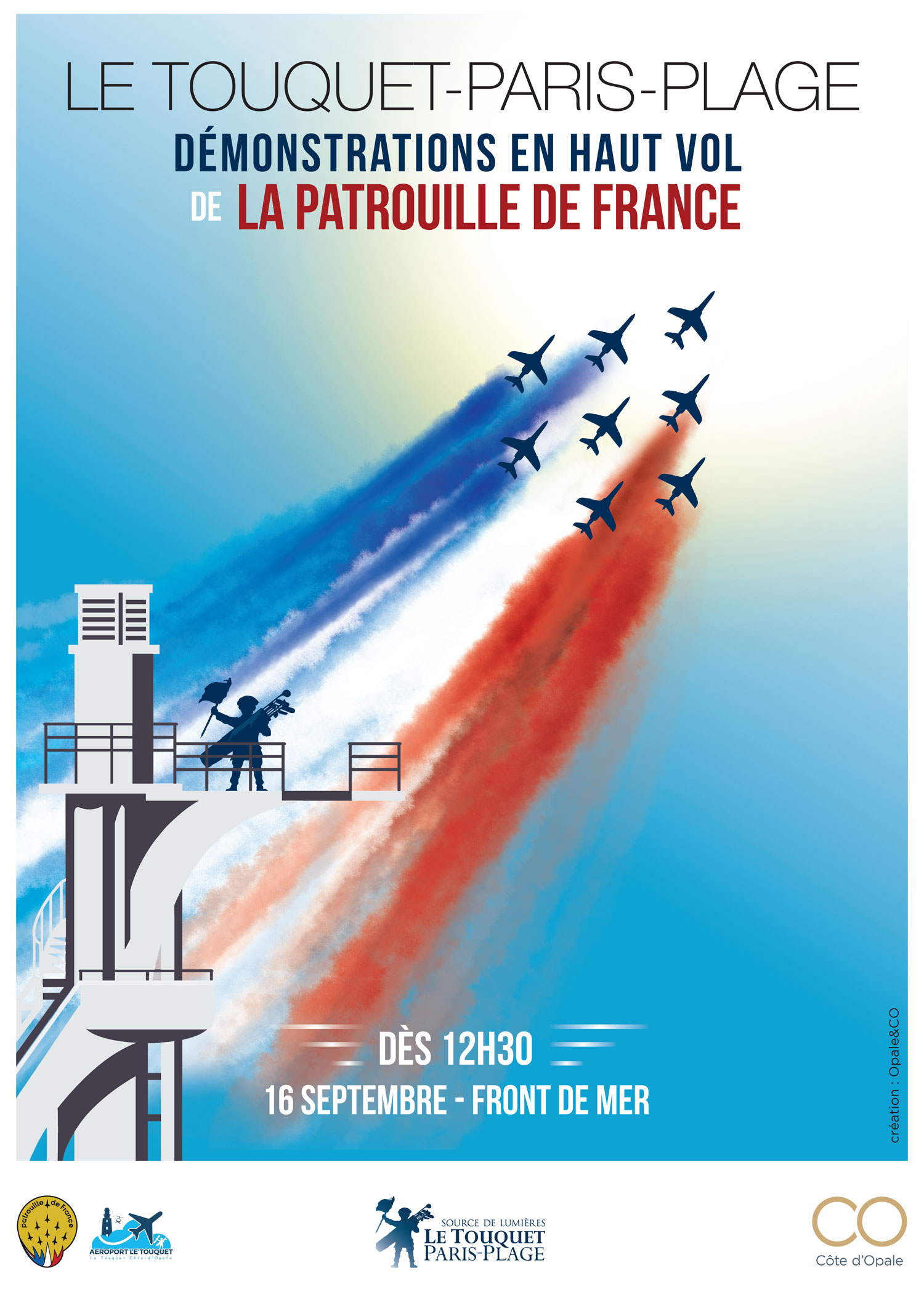 Meeting Aerien Touquet plage 2018 , Patrouille de France, meeting Aerien 2018