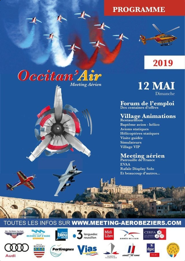 Meeting Aerien Occitan'Air Aéroport de Béziers Cap d'Agde airshow meeting aerien 2019