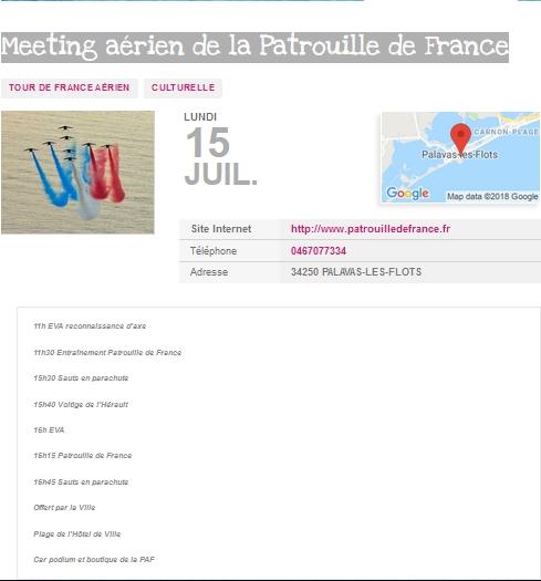 Palavas-les-Flots patrouille de france meeting aerien 2019