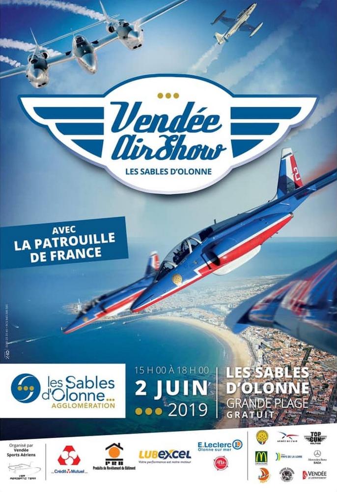 Vendée AirShow Les Sables d'Olonne meeting aerien 2019