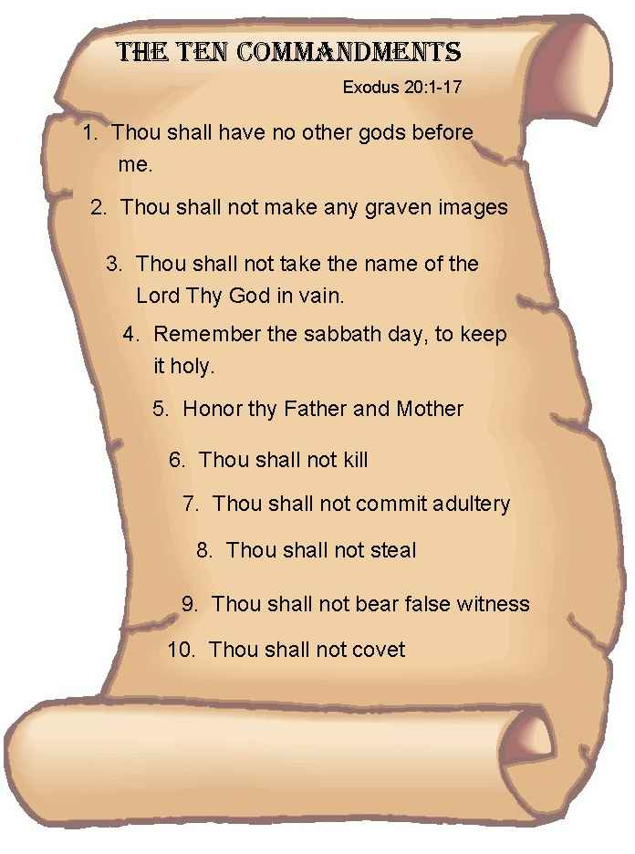 10 commandments dating