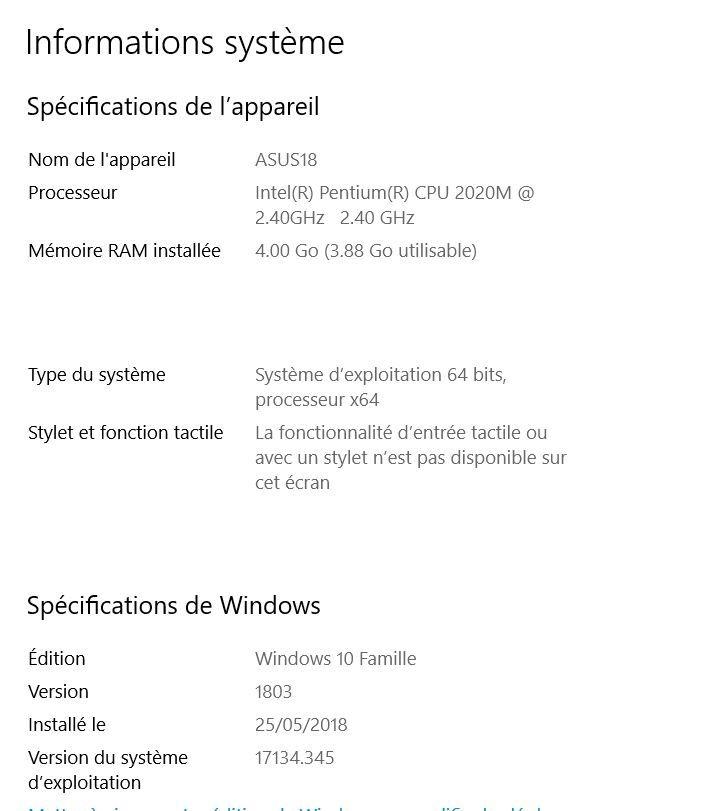 Windows et Système