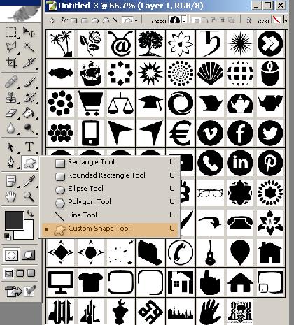 تحميل الاشكال الفتوشوب للتصميم Shapes.csh